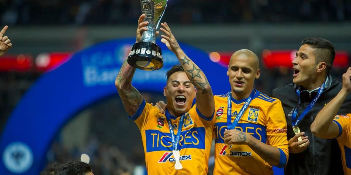 Eduardo Vargas marcó un golazo y conquistó su primer título de liga en el extranjero de la mano de Tigres
