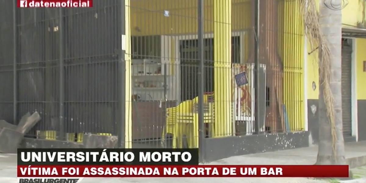 Universitário é morto na porta de bar em Guarulhos, na Grande São Paulo