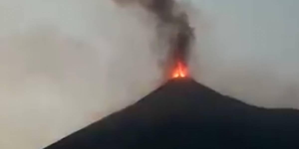 Reportan caída de ceniza por erupción del volcán de Fuego