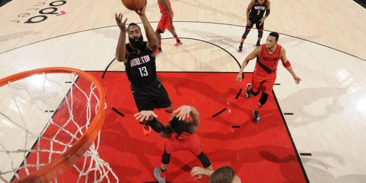 """Houston Rockets logran la mejor marca de triunfos en la NBA de la mano de """"Barba"""" Harden"""