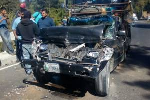 accidente en bajada de Villalobos