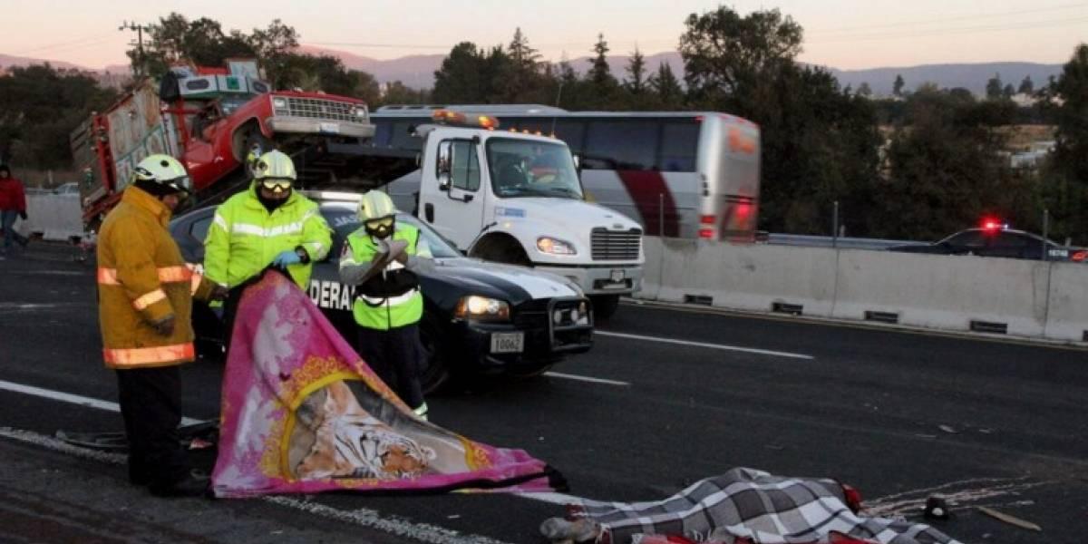 Mueren 8 peregrinos en accidente de la México-Puebla