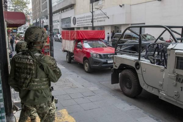Ejército realizando operativo en Tláhuac.