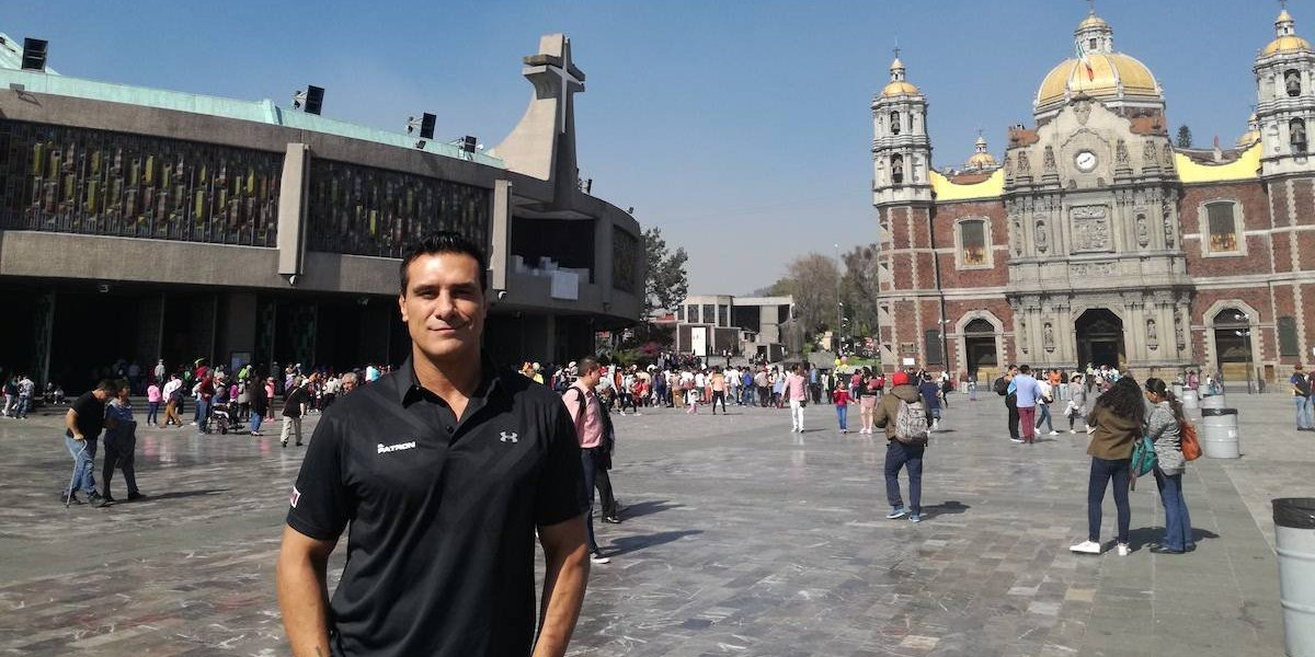 VIDEO: Alberto el 'Patrón' visitó la Basílica de Guadalupe