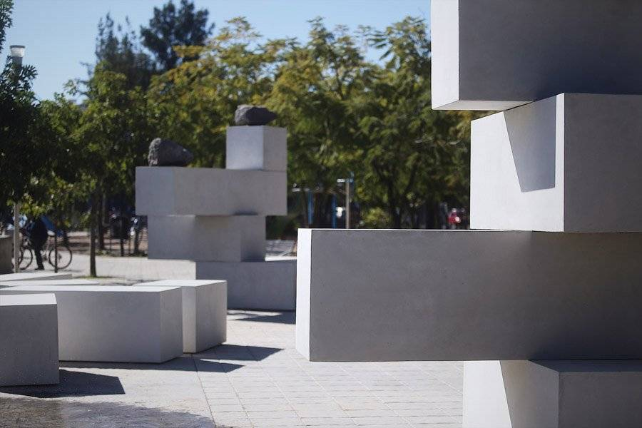 Inauguran conjunto escultórico en el parque San Jacinto