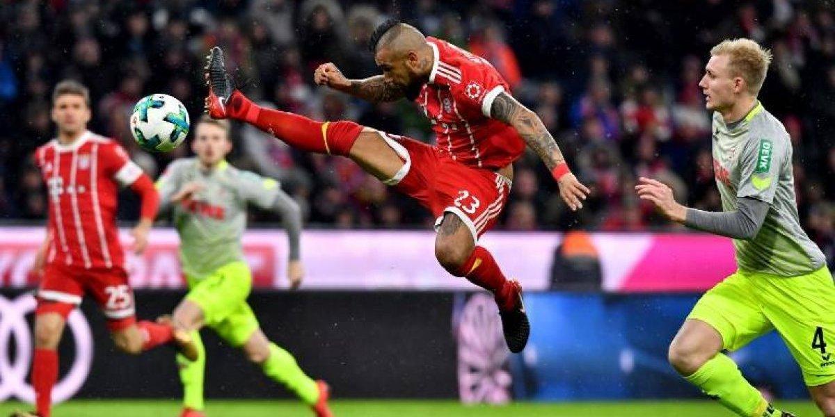 Minuto a minuto: Vidal fue reemplazado en el Bayern ante el colista Colonia