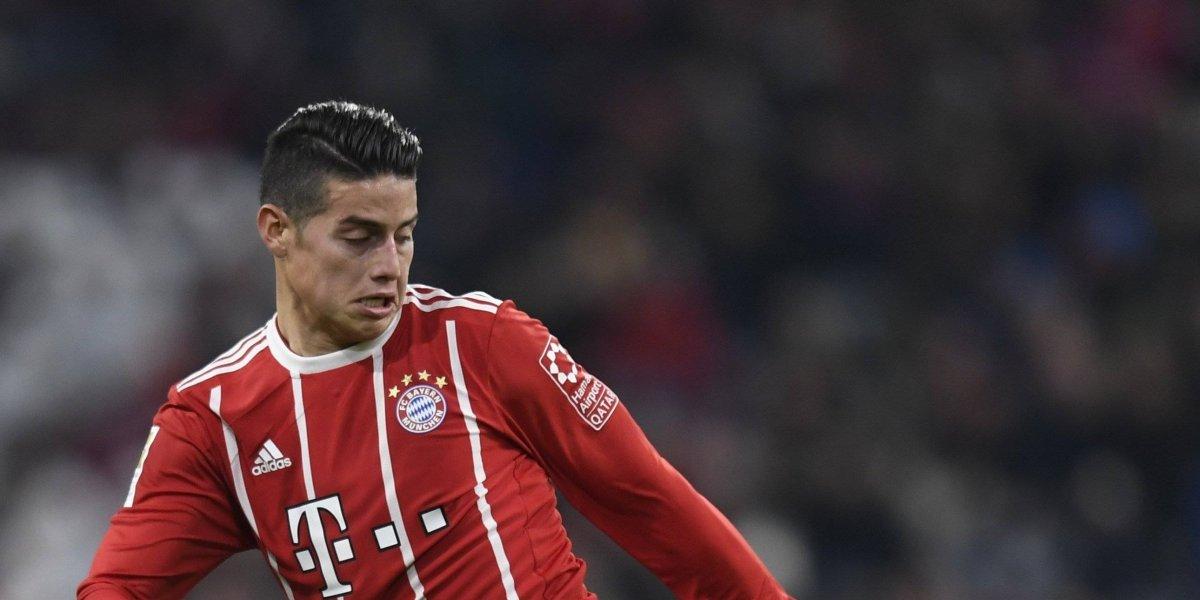 James mantiene al Bayern sólido en la cima de la Bundesliga