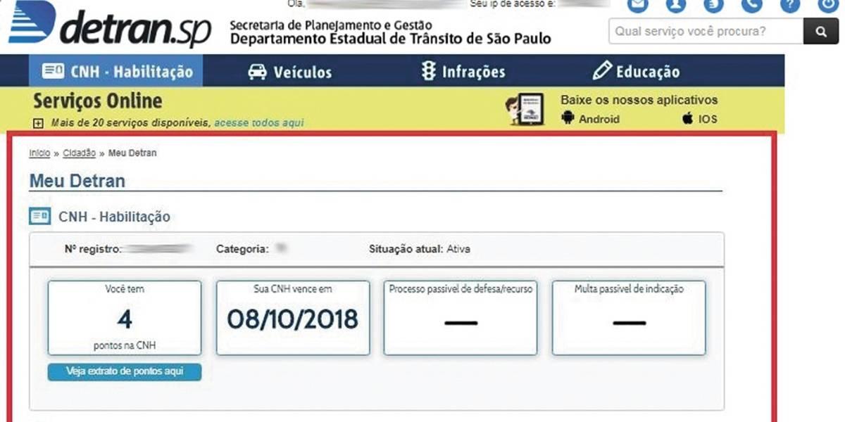 Detran simplifica acesso a informações do portal