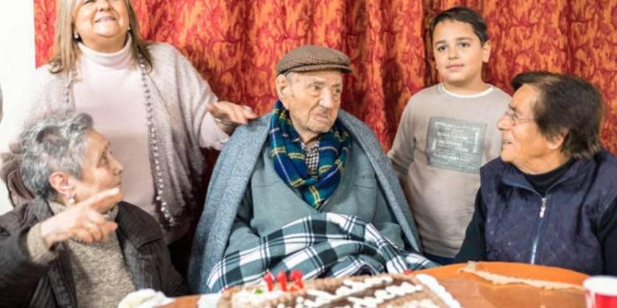 Así celebró su cumpleaños 113 Francisco Núñez, el hombre más viejo del mundo