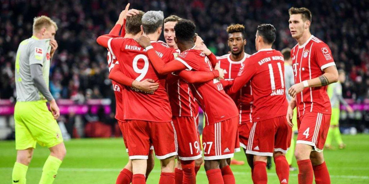 Bayern Munich ganó en casa al Colonia y sigue puntero