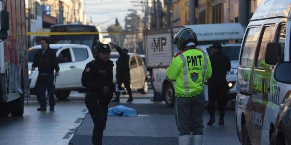 Adolescente muere por accidente de tránsito en zona 1