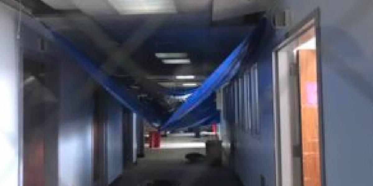 Hospital de Bayamón exhibe severos daños a 84 días de María