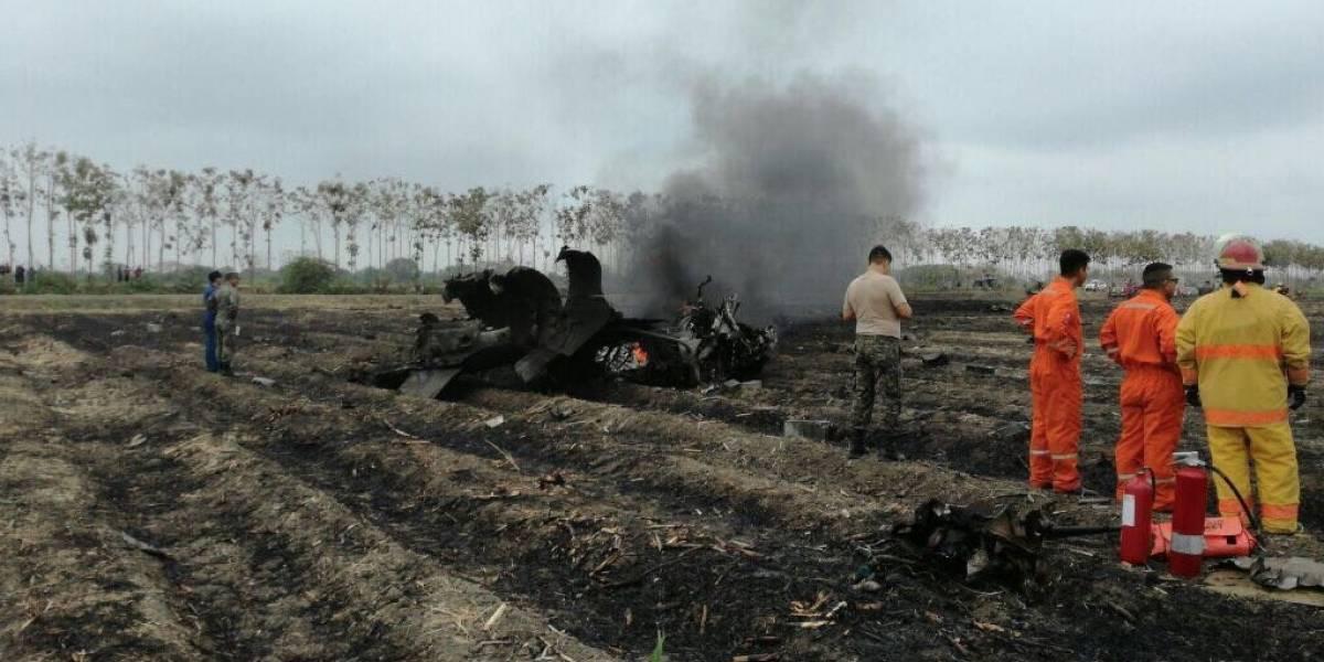 Avión de la Fuerza Aérea Ecuatoriana sufrió accidente mientras realizaba maniobra
