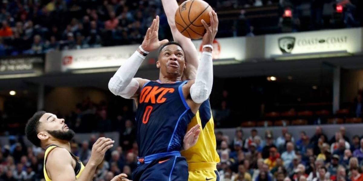 NBA: Oklahoma pega fuerte de la mano de un intratable Russell Westbrook