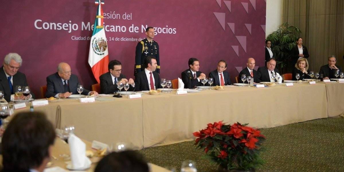 Peña Nieto se reúne con el Consejo Mexicano de Negocios