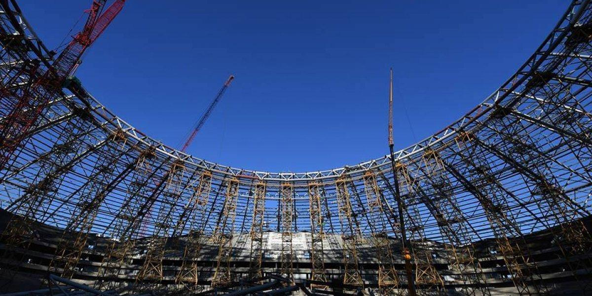 Presidente de Rusia afirma retraso en estadio mundialista
