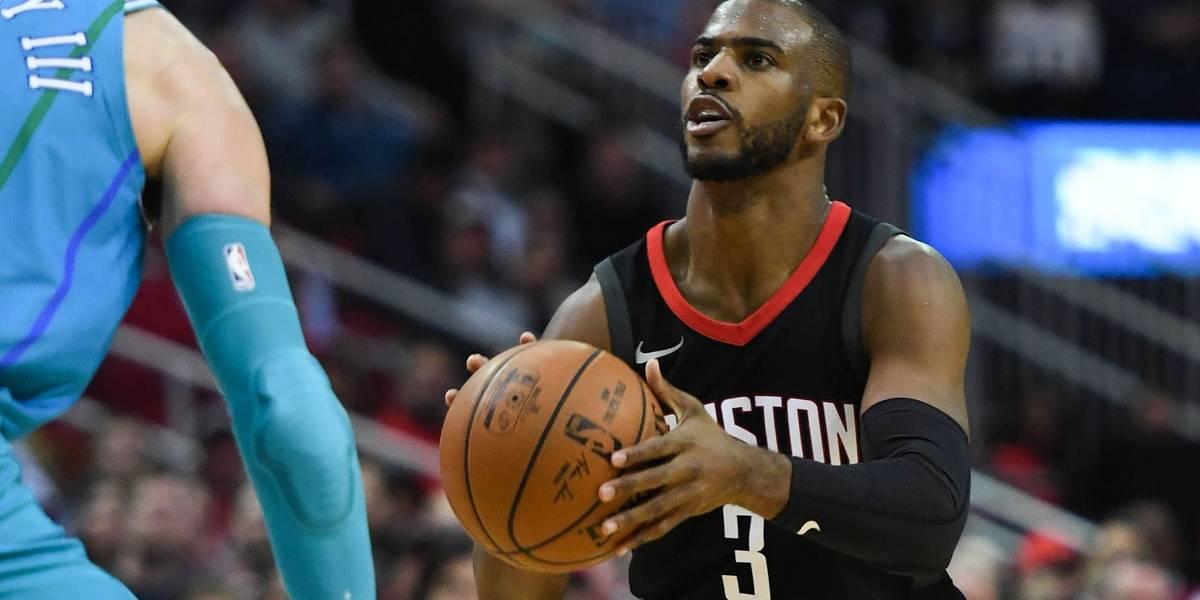 Com brilho de Chris Paul, líder Rockets bate Hornets e vence a 11ª seguida na NBA