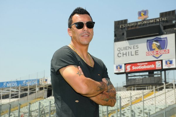 El goleador de Colo Colo se abrió con El Gráfico Chile / imagen: Ricardo Ramírez-El Gráfico Chile