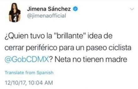 Jimena Sánchez tuit