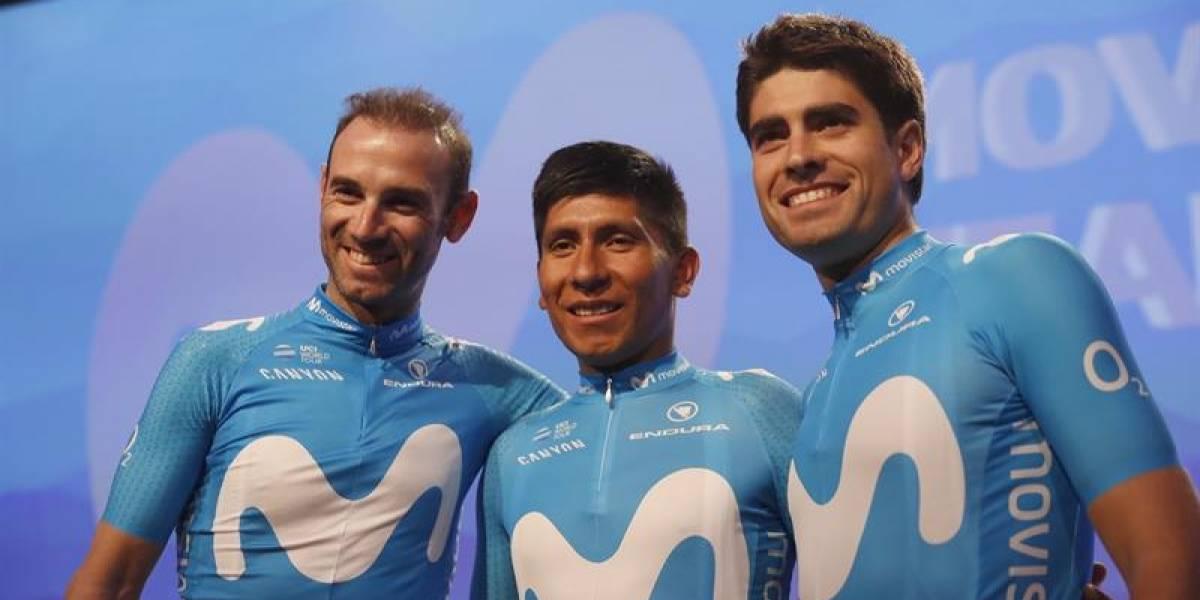 Movistar presentó a su equipo y Nairo dedicó unas palabras a Landa, su nuevo compañero