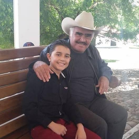 Luis Ángel con Don Chente.