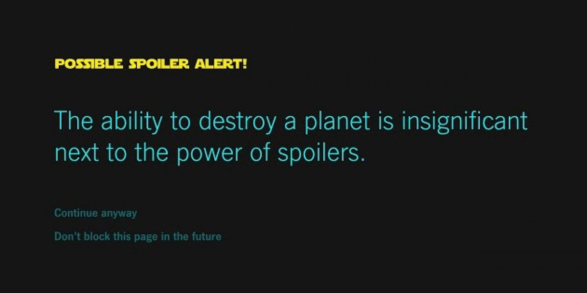 Google Chrome te ayudará a evitar spoilers de Star Wars
