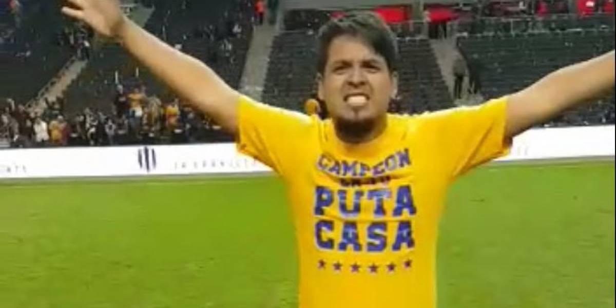 Rayados aclara sobre festejo de barrista de Tigres