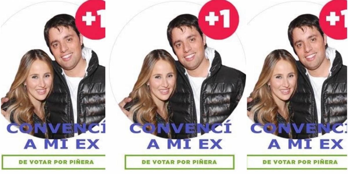 """""""El que hizo esto es diabólico"""": el meme de campaña de Piñera que llama a convencer """"al ex"""" que la rompe en Twitter"""