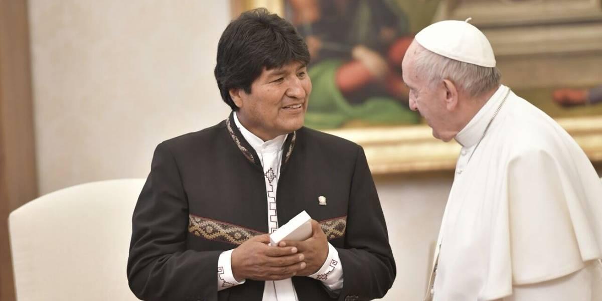 Evo Morales visita al Papa Francisco y le agradece su apoyo