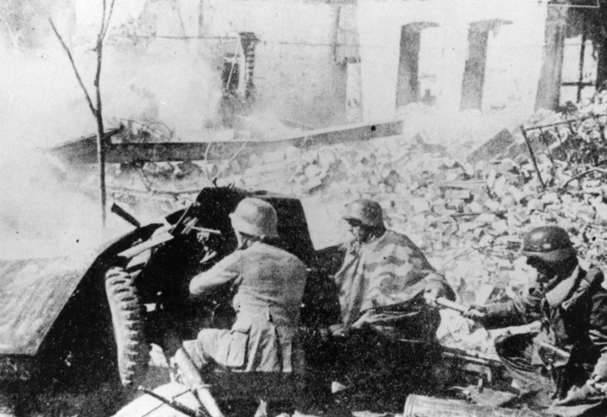 Artillería nazi Stalingrado