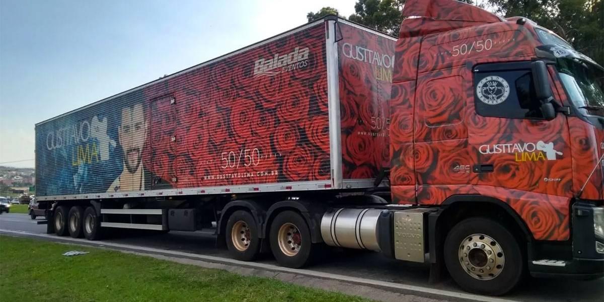 Caminhão da produção dos shows de Gusttavo Lima é roubado na Grande SP