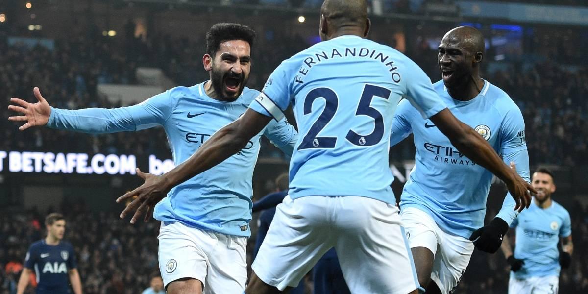Manchester City sigue imparable en Inglaterra y goleó al Tottenham por la Premier