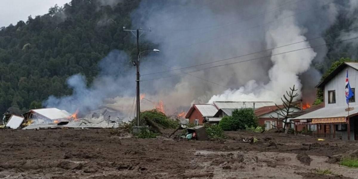 Tragedia en Villa Santa Lucía: aluvión destruye viviendas, provoca incendio y deja un carabinero desaparecido en Chaitén