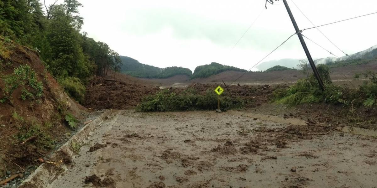 Un Carabineros desaparecido por aluvión en poblado cercano a Chaitén