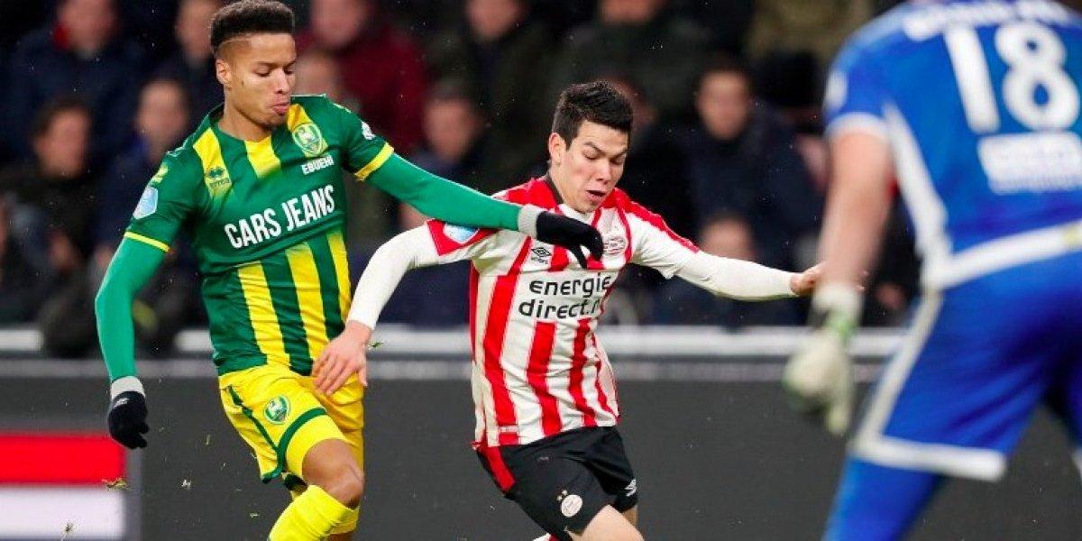 Con 'Chucky' Lozano en la cancha el PSV golea al ADO Den Haag