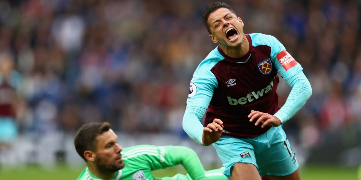 'Chicharito' jugó 10 minutos en goleada del West Ham