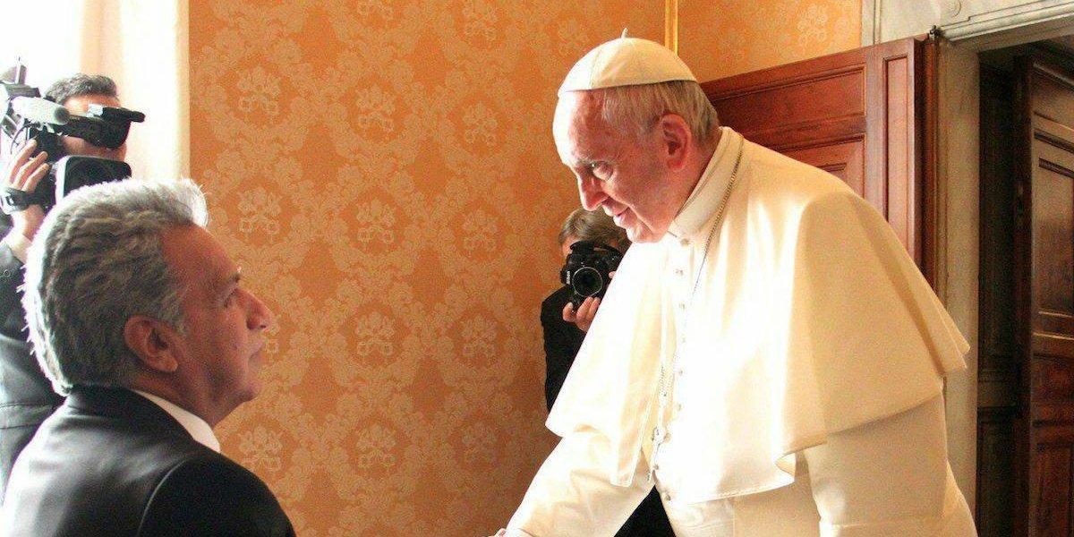 El Papa recibe por primera vez al presidente de Ecuador
