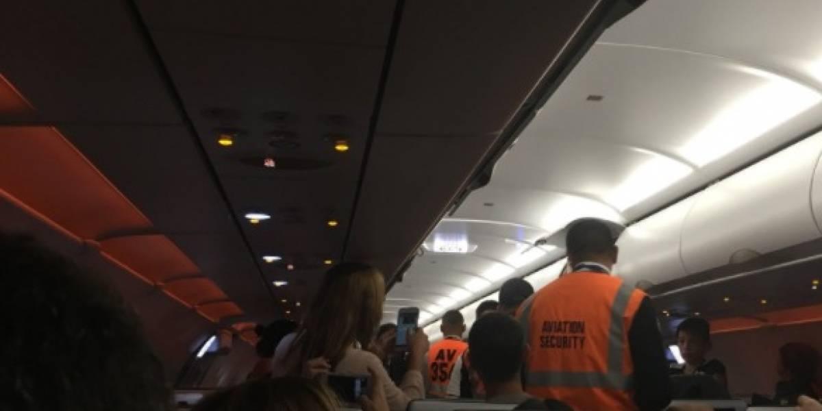 Extranjero que intimidó a los pasajeros retrasó un vuelo de Avianca