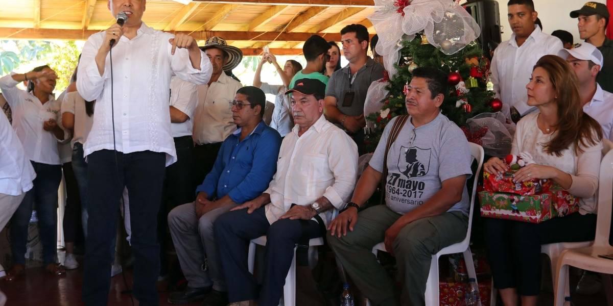 Así celebraron los exguerrilleros de las Farc su primera novena navideña