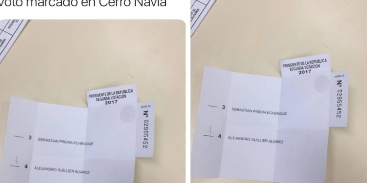"""""""¿Campaña del terror?"""": cuestionan foto del """"voto marcado"""" usado para denunciar intervención a favor de Guillier"""