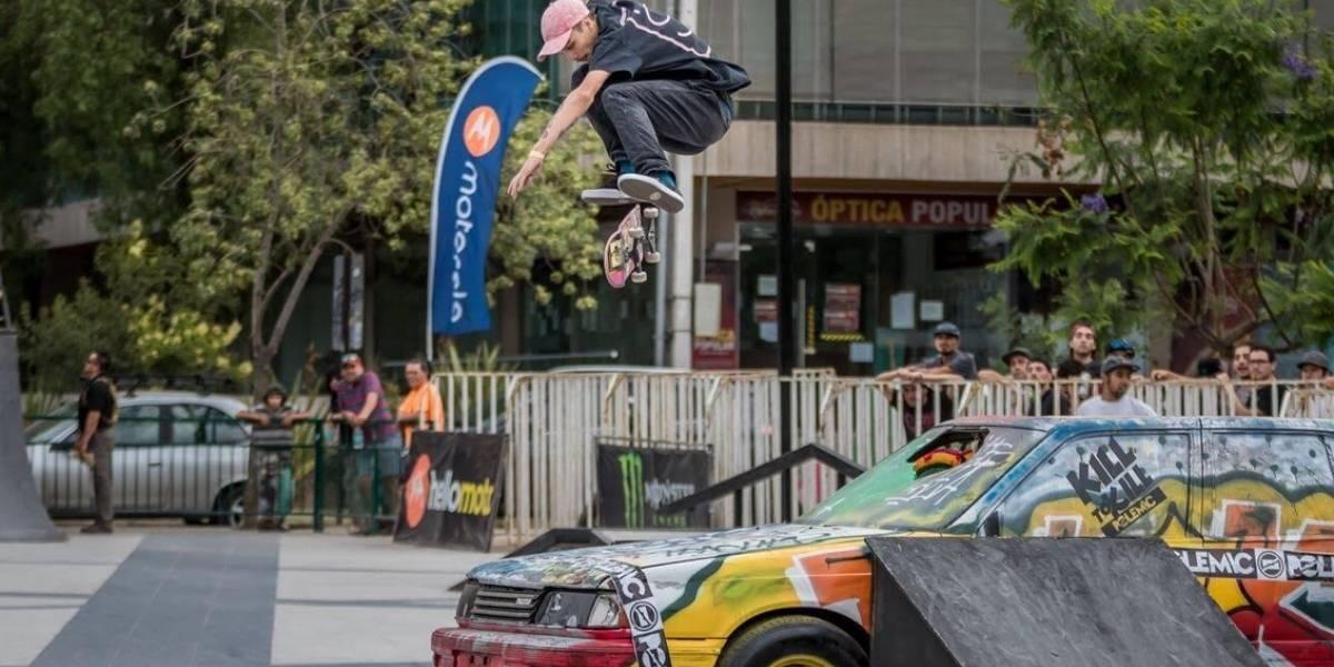 Juan Carlos Aliste deslumbró en el torneo de skate Motorola Kill to Kill Polemic