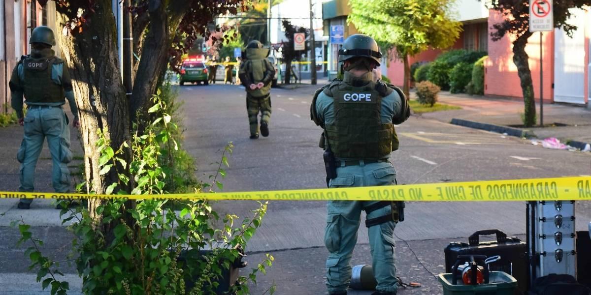 """Segunda Vuelta 2017: personal del Gope detonó """"artefacto sospechoso"""" que se encontraba en oficina del Servel en Temuco"""