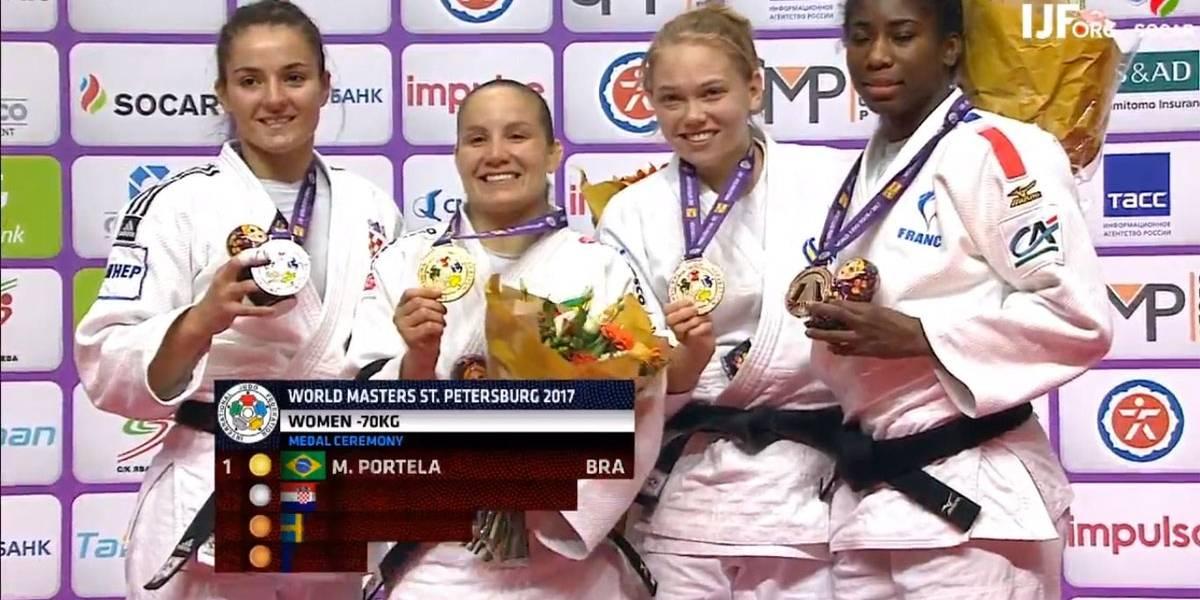 Maria Portela leva ouro e Brasil fecha o World Masters de Judô com 5 medalhas