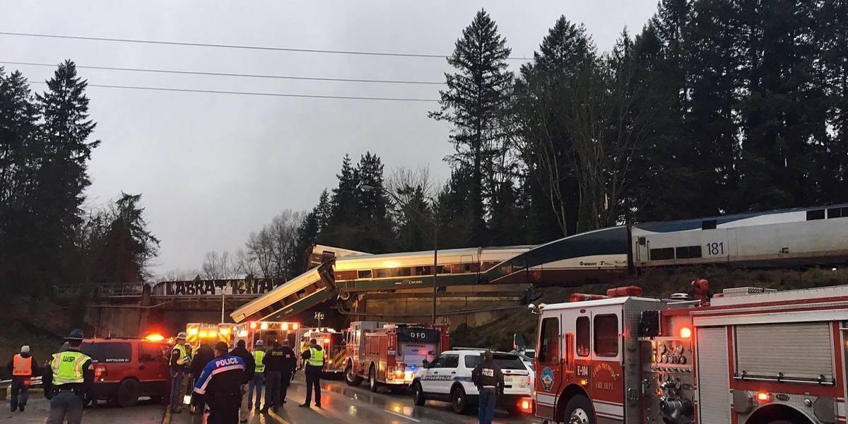Al menos seis muertos por descarrilamiento de tren de pasajeros en Washington
