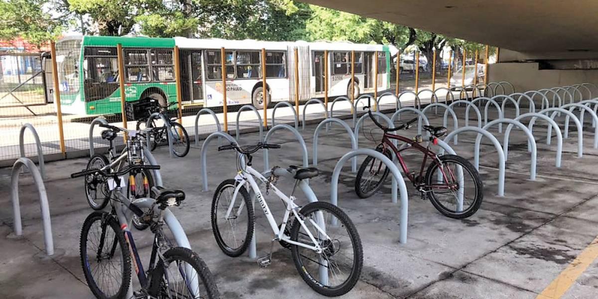 Bicicletário do terminal Sacomã fica mais seguro