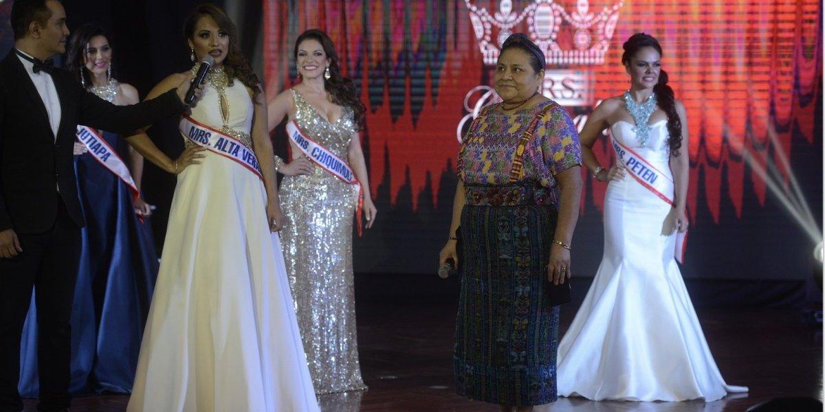 Rigoberta Menchú sorprende con su participación en evento de belleza