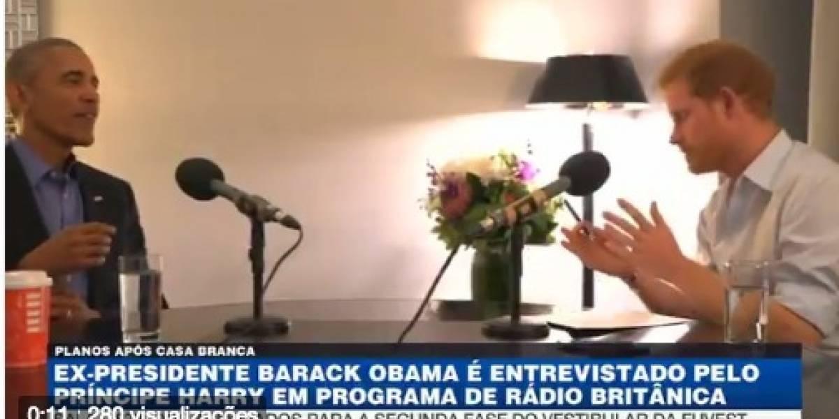 Obama é entrevistado pelo príncipe Harry