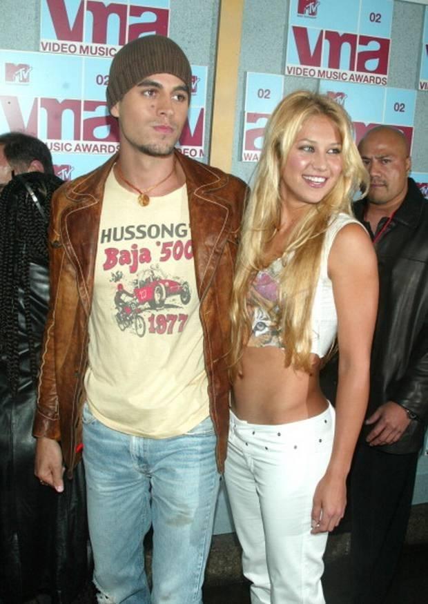 Enrique Iglesias y Anna Kournikova