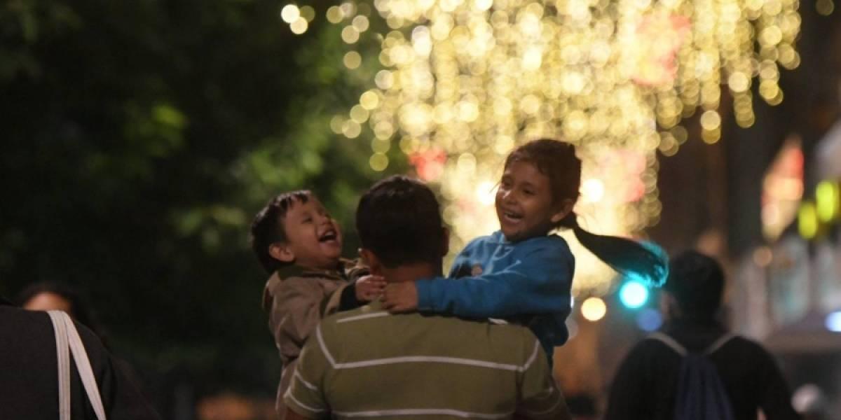 Iluminaciones navideñas en la Ciudad de Guatemala