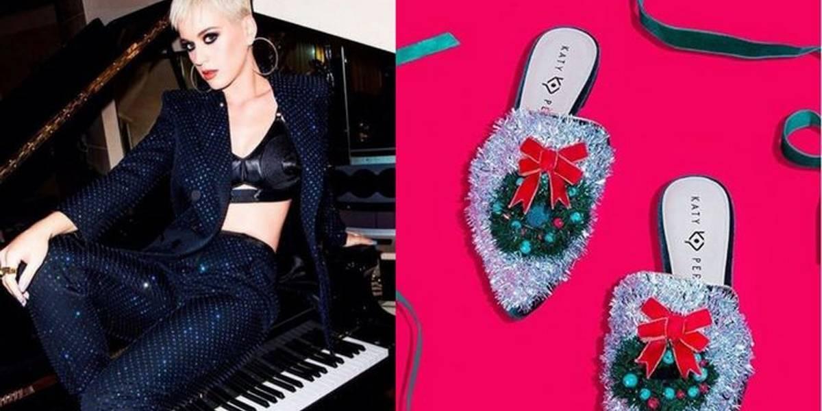 Katy Perry lança linha de sapatos natalinos; confira
